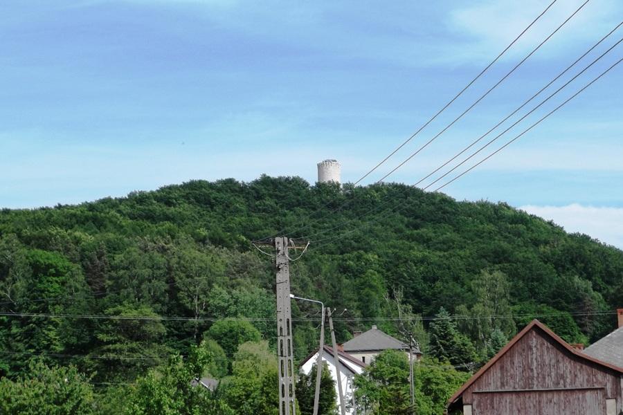 Ruiny zamku w Lipowcu Wygiełzów