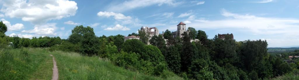 Panorama ruin zamku Tenczyn fot. Robert Kmieć